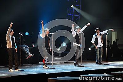 Backstreet Boys World Tour Beijing Concert Editorial Stock Photo