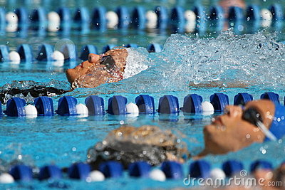 Backstroke women: Alpe Adria Summer Games 2010 Editorial Stock Image