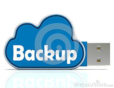 Backup Memory Stick Shows Files And Cloud Storage