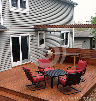 Free Backyard Deck Royalty Free Stock Images - 31080939