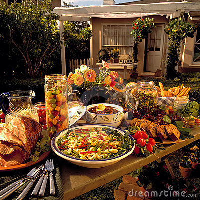Free Backyard Feast Royalty Free Stock Photo - 2794915