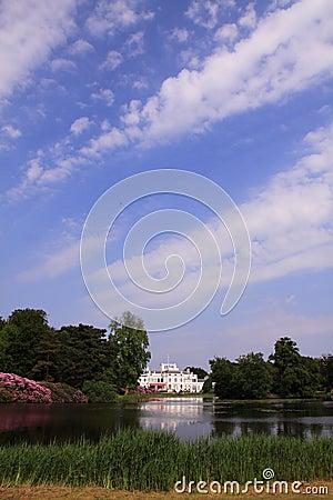Backyard of royal palace Soestdijk