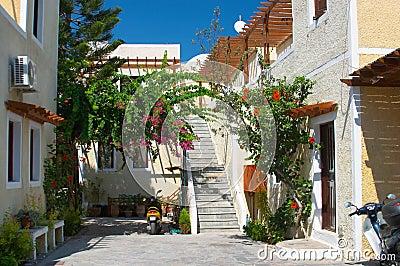 Backyard Santorini Greece