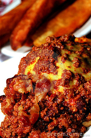 bacon cheeseburger smothered with chili
