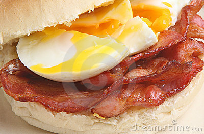 Bacon & Egg Bap or Roll