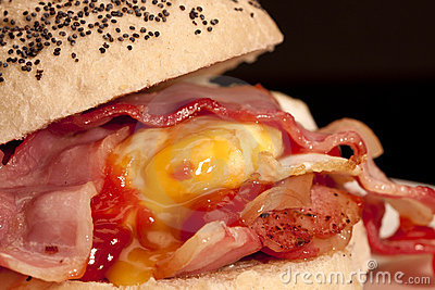 Bacon and egg roll.