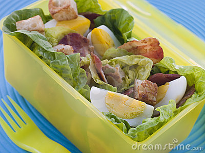 Bacon and Egg Salad Lunch Box