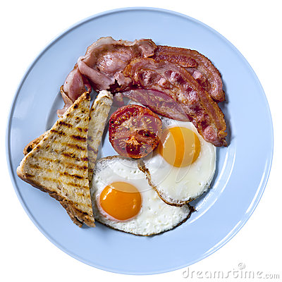 Bacon and Eggs Isolated