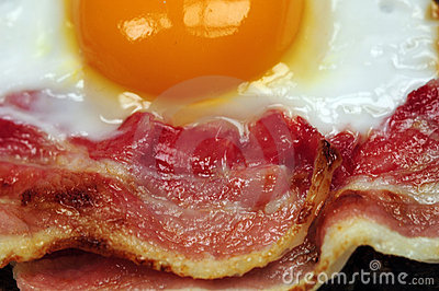 Bacon and fried egg
