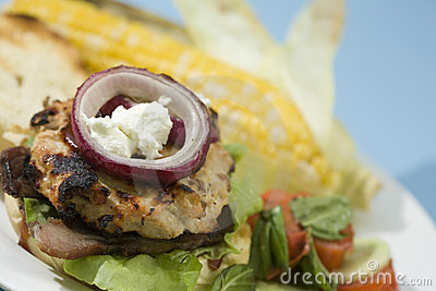 Bacon and Goat Cheese Turkey Burgers