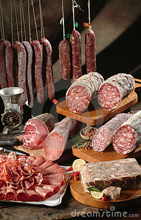 Free Bacon Sausage And Salami Stock Images - 11178144
