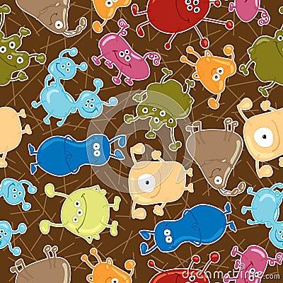 Bacteria. Seamless vector pattern. Medicine