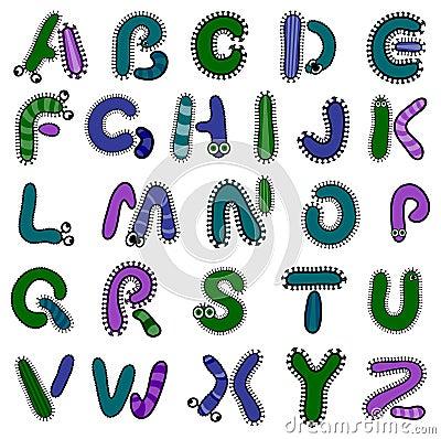 Bacterium alphabet