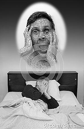 Bad Dream, Man having Nightmare