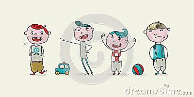 Bad dzieciaki ustawiający
