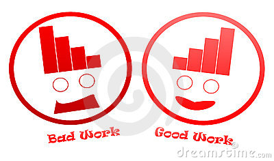 Bad And Good Work Icons