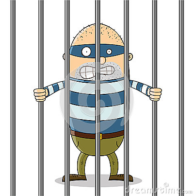 Bad guy in jail