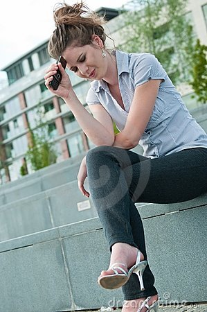 Bad Message - Unhappy Woman Stock Images - Image: 15853574