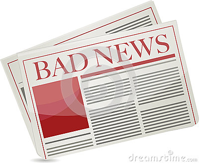 Bad news newspaper illustration design