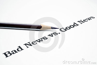 Bad news vs.good news