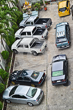 Bad parking Editorial Stock Photo