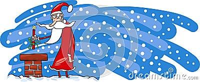 Bad Santa Claus cartoon card