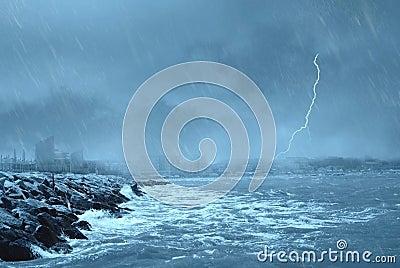 Bad weather on the dock