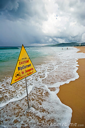 Free Bad Weather On The Beach Royalty Free Stock Photos - 9341658