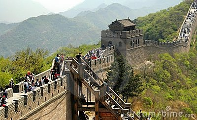 Badaling, China: Great Wall of China Editorial Photo