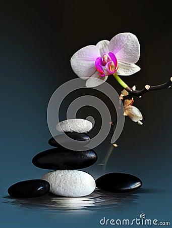 Badekurort-Zen-Anordnung