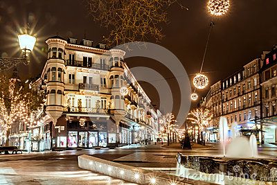 BADEN-BADEN, GERMANY  DECEMBER 11: CITY CHRISTMAS DECORATION at Editorial Photography