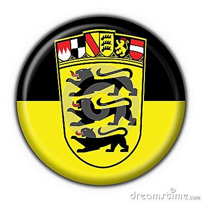 Baden Württemberg button flag round shape