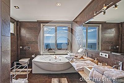 badezimmer im landhaus modern stockfoto bild 43670121