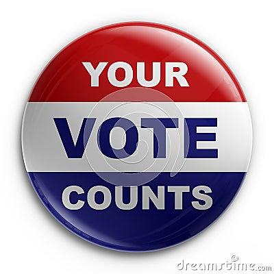 Free Badge - 2008 Election Stock Photos - 5445563