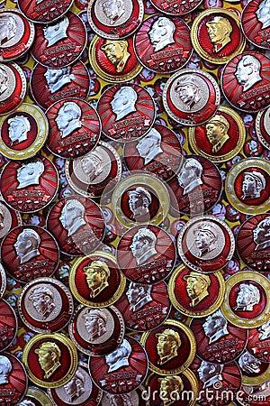 Badge mao zedong Editorial Photo