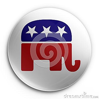 Free Badge - Republican Royalty Free Stock Image - 5445576