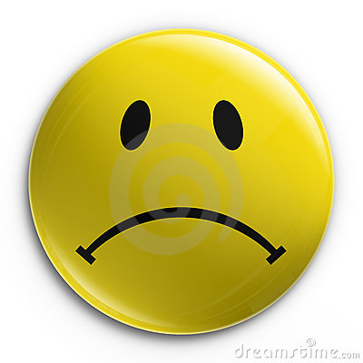 Badge Sad Smiley