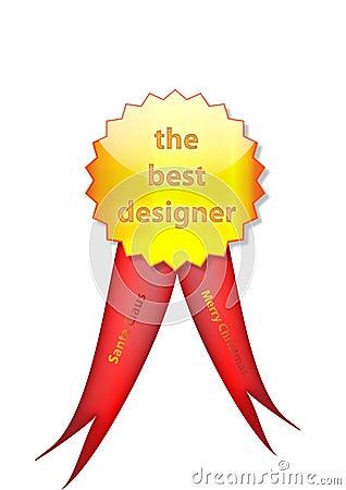 Badge to designer from santa