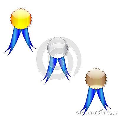 Badges blue ribbon
