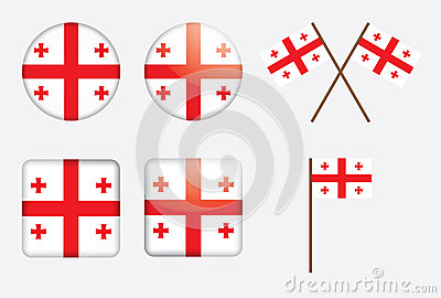 Badges with flag of Georgia