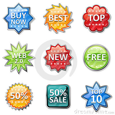 Badges And Price Tags Royalty Free Stock Images - Image: 17455629