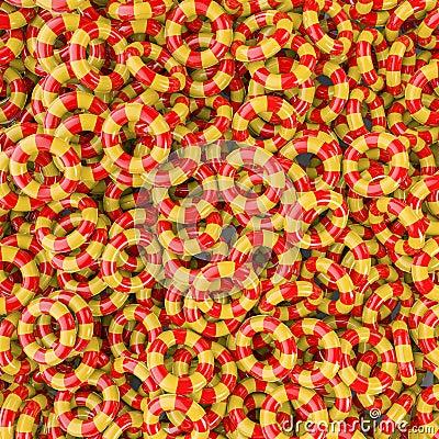 Badine le fond gonflable d anneaux