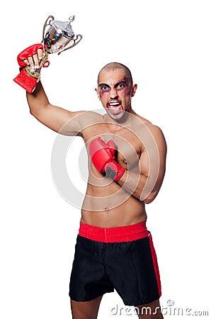 Badly beaten boxer