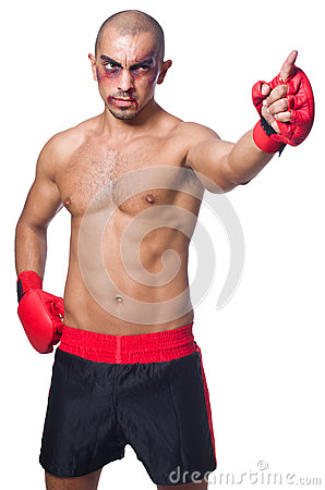 Badly beaten boxer