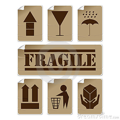 Free Badly Glued Stickers Royalty Free Stock Images - 19690099