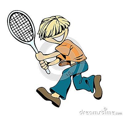Badminton boy