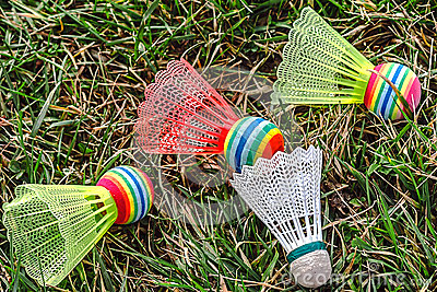 Badminton colored shuttlecocks -2