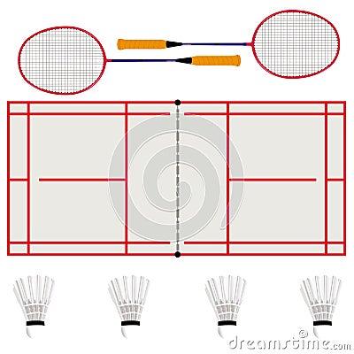 Badminton concept card