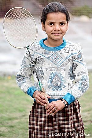 Badminton girl