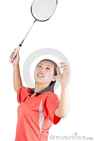 Free Badminton Girl Royalty Free Stock Photos - 4857218